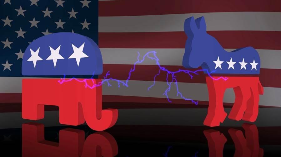 شعار الحزبين الديمقراطي والجمهوري